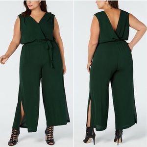 🌿 {NWT} Monteau | Dark Green Sleeveless Jumpsuit